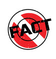 fact rubber stamp vector image