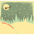 Vintage Christmas background with text on night vector image vector image