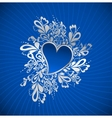 Blue Heart To The StValentine vector image vector image