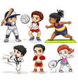 Kids engaging in different activities vector image