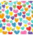 Seamless pattern with many colored hand drawn dood vector image