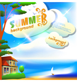 Summer abstract background or card vector image