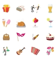 Party Icons set cartoon style vector image