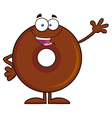 Waving Donut Cartoon vector image vector image