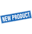 new product blue square grunge stamp on white vector image