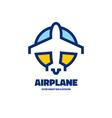 Airplane - logo concept vector image