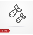 Bomb silhouette icon vector image