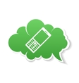 Green Phone speech Bubble Icon vector image
