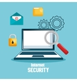 laptop technology data digital security design vector image