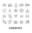 logistics transportation warehouse supply chain vector image