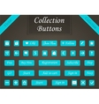 Set of buttons and web elements for design vector image