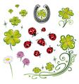 shamrocks sylvester ladybug vector image