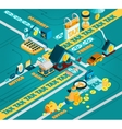 Tax Isometric Concept vector image