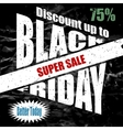 Black Friday banner template design vector image vector image