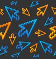 Computer cursor arrows vintage pattern background vector image