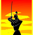 silhouette of samurai vector image
