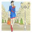 Girl in St Petersburg Russia vector image vector image