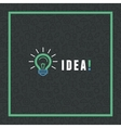 creative idea concept in flat style vector image
