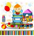 baby boy highchair vector image