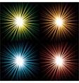 starbursts vector image