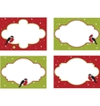 four frames of christmas cards vector image