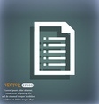 Text file icon On the blue-green abstract vector image
