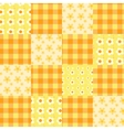 seamless patchwork pattern orange vector image