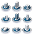3D isometric city vector image vector image