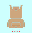 backpack it is icon vector image