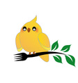 Cute cockatiel holding a fork vector image
