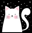 funny cute cat winter vector image