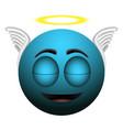 happy angel emoji vector image