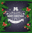merry christmas flyer background with frame from vector image