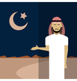 Muslim icon 2 vector image