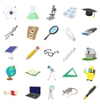 Science icons set cartoon style vector image