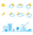 set of weather icons season vector image