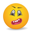 surprised 3d round yellow smiley face icon vector image