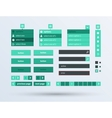 UI set the flat design trend vector image