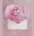 vintage background with pink peony flowers vector image