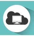 Technology monitor pc cloud vector image