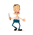 maniac with knife vector image