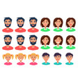people expressing emotions set of icons on white vector image