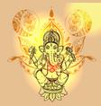 with ganesha vector image