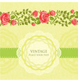 floral retro card vector image vector image