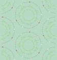 seamless pattern with drawn circles branches vector image