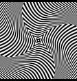 Torsion rotation movement vector image