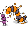 ant and caterpillar cartoon vector image vector image