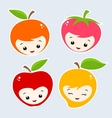 Cartoon Fruits vector image vector image