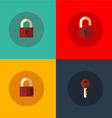 Set of lock icons vector image vector image