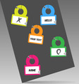 hanging labels vector image vector image